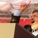 Egyptian president-elect Mohamed Morsi at Tahrir